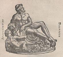 'Dios Urano',Astronomie & Forschung, grabado sobre papel de Tycho Brahe, 1610. German Photo Library.