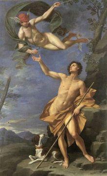 Donato Creti, Mercurio e Paride, Palazzo Accursio Bologna