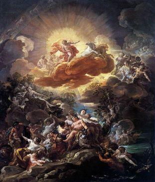 'El nacimiento del Sol y el triunfo de Baco', Corrado Giaquinto, 1762, Museo del Prado