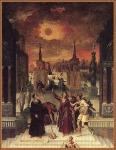 """""""Astrólogos estudiando un eclipse,"""" de Antoine Caron, 1571"""