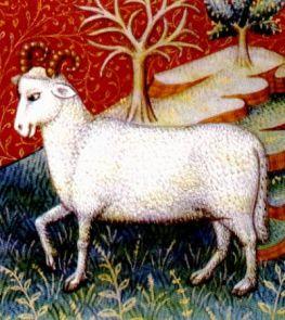 Aries, imagen libro medieval de astrología, siglo XV, autor desconocido