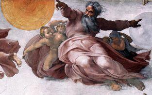 'Creación de las estrellas y los planetas', Michelangelo Buonarroti (1512), Capilla Sixtina, Los Museos Vaticanos