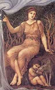 Earth_Mother (Madre Tierra), Edward_Burne_Jones,1882JAW, Worchester Art Museum