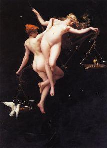 'La balanza del zodiaco'. Luis Ricardo Falero (1851–1896)