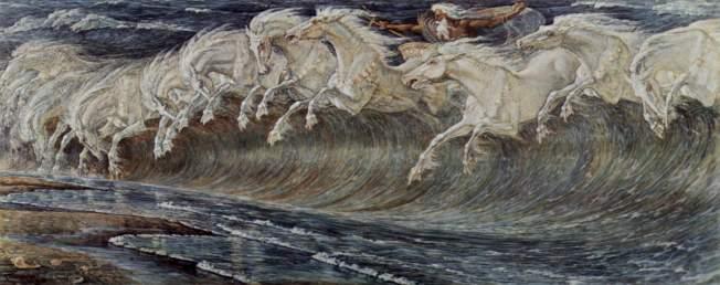 Los caballos de Neptuno, Walter Crane, 1893
