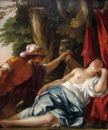"""""""Marte y la Virgen Vestal ', óleo sobre lienzo, pintura de Jacques Blanchard, ca. 1630, Galería de Arte de Nueva Gales del Sur"""