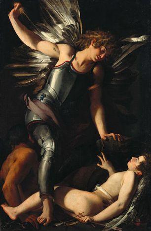 Giovanni Baglione, 'El Eros divino vence al Eros terrenall', 1602. Museo Gemäldegalerie der Staatlichen, Belín, Alemania. Google Art Project, Wikimedia Commons 16 febrero 2011