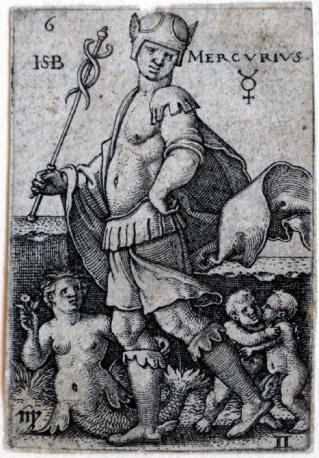 Mercurio, Beham, (Hans) Sebald (1500-1550), de los siete planetas con los signos del Zodíaco, 1539