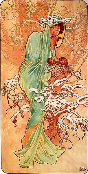 'Invierno, Alfons Mucha, 1896