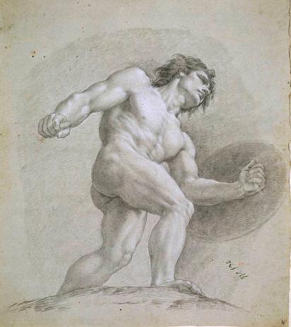 Boceto de Marte para 'El Olimpo: batalla con los gigantes' , de Francisco Bayeu y Subías,1764. Museo del Prado, Madrid, España.