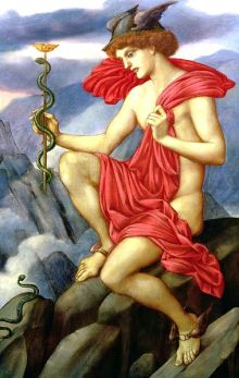 Mercurio, Evelyn de Morgan, pintura en óleo 1870-1873. the-athenaeum.org. Wikimedia Commons 1º enero 2014