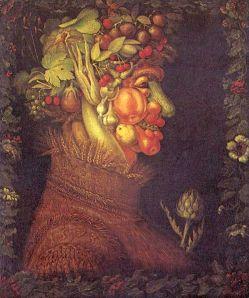 'Verano' 'Jesenji portret', de Giuseppe Arcimboldo, 1563, Museo de Louvre, París, Francia Museum