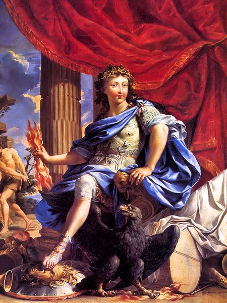 'Retrato de Louis XIV como Júpiter venciendo la Fronda', de Charles Poerson (1638-1715). Pintura en óleo que pertenece a la colección del Palacio de Versalles, Francia.