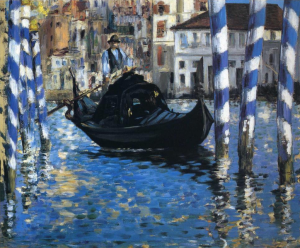 Manet, Edouard  1875 'El Gran Canal de Venecia (Venecia Azul)', pintura en óleo, Museo Shelburne, Shelburne, Vermont.