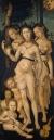 'Armonía' o 'Las tres gracias', de Hans Baldung,  1541-1544, Museo del Prado, Madrid, España. Las tres gracias según la mitología griega fueron asociadas con el inframundo y los rituales de iniciación.