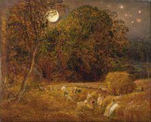 'La luna de la cosecha', Samuel Palmer, 1833, Yale Center for British Art, Parte del Google Art Project.