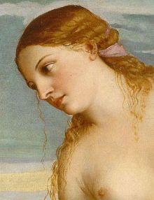 Tiziano detalle de la obra 'Venus de Amor sacro y amor profano', óleo sobre lienzo,1514. ,Galería Borghese, Roma Italia. Wikimedia Commons 11 julio 2012