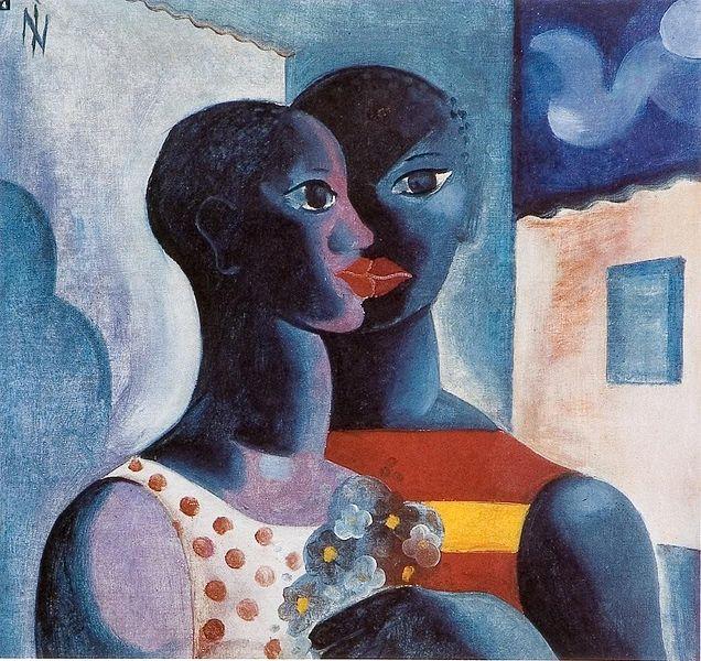 """""""Namorados"""",óleo sobre tela de Ismael Nery, 1 January 1927."""