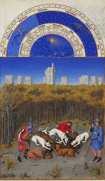 'Diciembre', incluido en el libro gótico francés 'Très Riches
