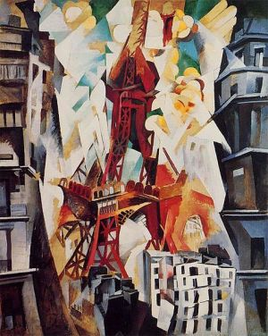 'Champ De Mars', pintura en óleo de Robert Delaunay.1911. The Art Institute of Chicago.
