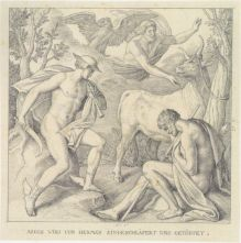 Mercurio y Minerva, dibujo de Gaspar Becerra, Museo del Louvre. París-Francia.