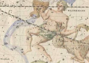 Constelación de Acuario, Uranografíia de Johann Elert Bode, 1782