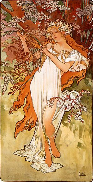'Primavera', Alfons Mucha, 1896, Art Renewal Center Museum.
