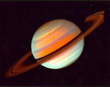 Foto de Saturno en falsos colores, visto desde la Voyager 1. NASA