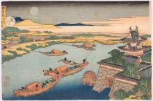 Hokusai, Yohachi, 'Yodo-gawa de Setsugekka', 1833. Web Wikimedia, 10 Jun 2014.