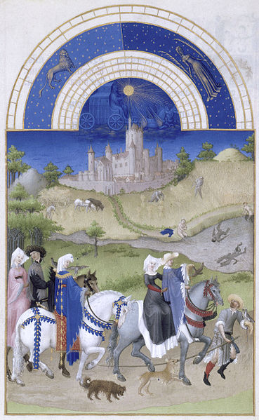 Gebroeders van Limburg, 'Agosto', Les' Très Riches Heures du Duc de Berry:'.ilutstración de (1412-1416), Musée Condé, Chantilly-Francia. Wikimedia Commons 28/12/2012