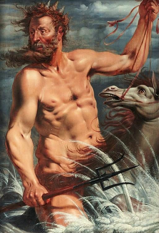 Werner Jacobsz. van den Valckert, 'Neptune' pintura en óleo del 1619, Statens Museum for Kunst , Conpenaguen, Dinamarca. Wikimedia Commons, 21 diciembre 2013