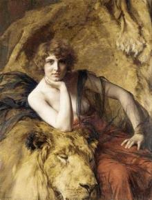 Émile Friant 'Mujer con el león', 1919. www.mutualart.com. Wikimedia Commons 27 febrero 2010