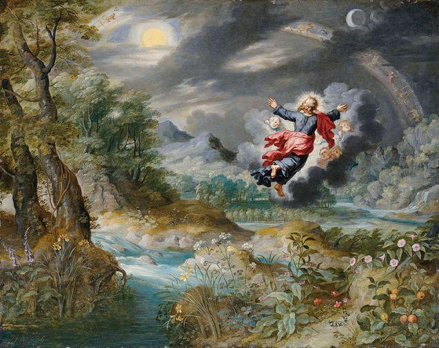 Jan Brueghel II 'Dios creando al Sol, la Luna y las estrellas', siglo 17. Fuente: http://kavery.livejournal.com/1084162.html. Wikimedia Commons  1 abril 2008