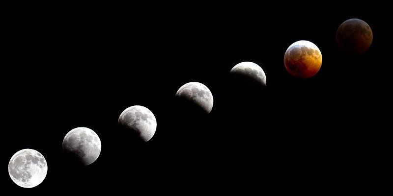 The National Guard, Eclipse Total de Luna, fotografiado durante un período de dos horas., Palmer, Alaska, 20 de diciembre de 2010. Wikimedia Commons, 22 diciembre 2010