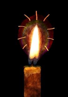 Dibujo de una vela realizado por un niño. Pixabay. CC0 Public Domain. 22 noviembre 2014