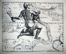Johannes Hevelius, Constelación de Acuario. Urano es el regente de Acuario. Obra Uranografía de 1690, Wkimedia Commons 28 de Septiembre 2011