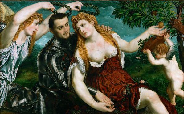Paris Bordon, 'Alegoría Venus, Marte, y Cupido coronados por la Victoria', 1560, Kunsthistorisches Museum, Viena-Austria. Wikimedia Commons 8 de agosto 2014