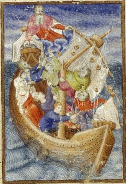 Neptuno Epístola de Othea (Manuscrito de la Reina). Anónimo, Siglo 15
