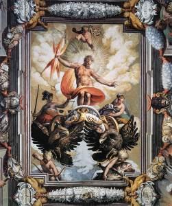 Jacopo Zucchi 'Júpiter', fresco 1589-1592.  Palazzo Ruspoli, Roma-Italia. Wikimedia Commons 4 diciembre 2010.