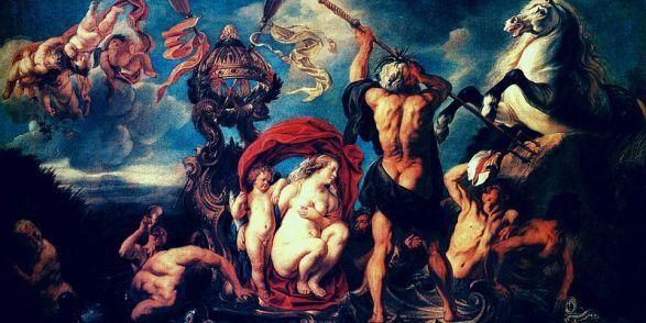 Jacob Jordaens, 'Neptuno creando el caballo', 1645, pintura óleo sobre lienzo,. Wikimedia Commons 21 diciembre 2013
