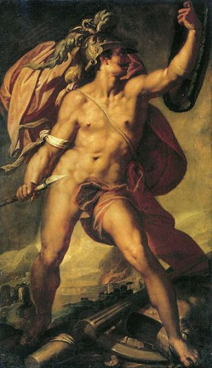 Bartholomaeus Spranger, 'Marte en el campo de batalla', pintura en óleo alrededor 1580. Wikimedia Commons 11 noviembre 2009.