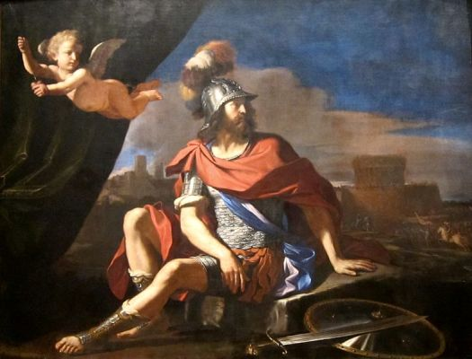 Giovanni Francesco Barbieri (Guercino), 'marte y Cupido', pintura en óleo,1649. Cincinnati Art Museum. Wikimedia Commons, 7 septiembre 2012