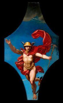 Mercurio. Pintura al óleo. Colecciones  iconográfica de la Wellcome Collection, Londres-Inglaterra. Wikimedia Commons 31 octubre 2014