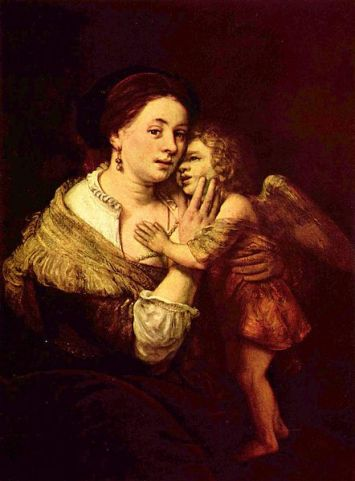 Rembrandt 'Venus y Amor', pintura en úleo 1640-1660. Museo de Louvre, Paris. Wikimedia Commons, 21 mayo 2015