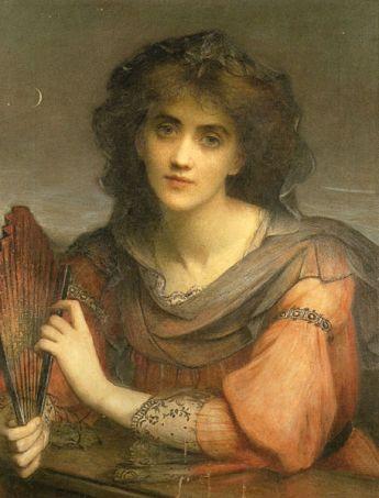 Charles Edward Hallé, Luna, 1846-1914. pintura en óleo sobre lienzo. Wikimedia Commons 7 mayo 2014