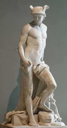 Augustin Pajou 'Mercurio', escultura en mármol, 1780. Museo del Louvre, Paris-Francia. Wikimedia Commons 18 junio 2006
