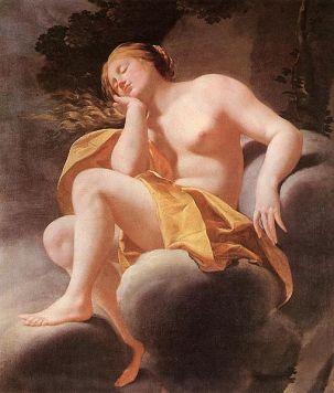 Simon Vouet 'Venus dormida', óleo sobre lienzo 1630-1640. Museo de Bellas Artes Budapest-Hungría. Wikimedia Commons 4 de junio 2011