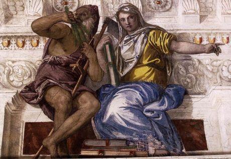Paolo Veronese, 'Saturno (tiempo) e Historia', fresco 1560-1561, Villa di Maser, Treviso-Italia. Wikimedia Commons 10 junio 2011