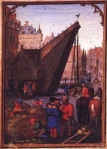 Simon Bening 'Las labores de los meses: octubre, del Libro Flamenco de las Horas (Brujas). primera mitad del siglo 16. Munich,, Alemania. Wikimedia Commons 19 septiembre 2006