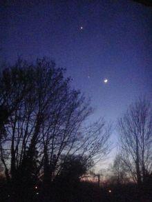 Conjunción Venus-Júpiter,  4 Julio 2012. Foto: LordToran